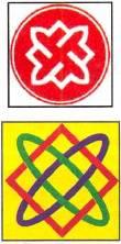 Рис. символ РНЕ и Звезда Лады-Богородицы.