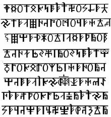 Рис. Рунический текст, Руны в форме Свастики.