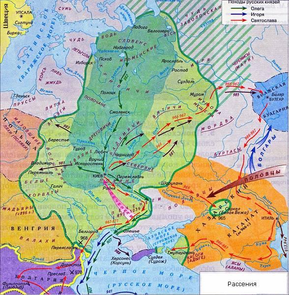 Карта: Расселение западных славян.