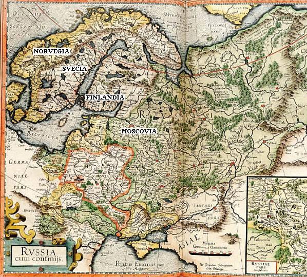 Карта «Руссия и сопредельные» (1594 г.), Герард Меркатор