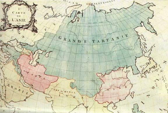 Карта: Великая Тартария.